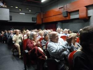 Il pubblico in sala alla prima proiezione del documentario il 27 giugno al filmstudio
