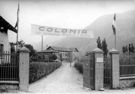 La Colonia di Salice d'Ulzio per i figli degli operai ILVA.