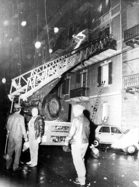 I primi soccorsi in Via Giacchero.