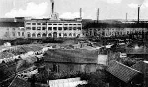 L'ingresso dello stabilimento all'inizio del XX secolo.