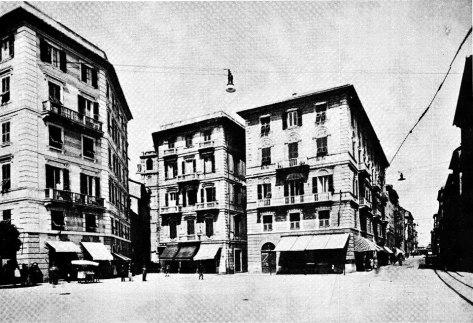 Parte del quartiere dei Cassari prospiciente il vecchio ospedale.