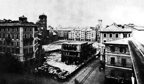 La casa dello scultore Antonio Brilla è l'ultimo edificio ad essere demolito.